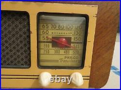Vintage 1930's Philco Transitone PT-66 AM Tube Radio M# 39-6731 Parts or Restore