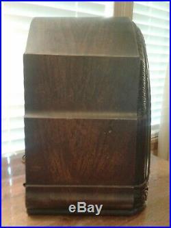 Vintage 1931 Crosley Buddy Boy Model 58 Repwood Am Tube Radio For Restoration