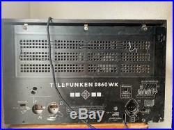 Vintage 1938 Telefunken 898 tube radio with 12 klangfilm speaker fieldcoil EL12