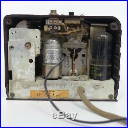 Vintage(1939) Emerson Model CF-255 Emersonette Tube Radio Bakelite withHeadphone