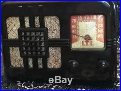 Vintage 1940's Lyric 546-T Bakelite Tube Radio RARE I. T. I Label Kit Radio 5-tube