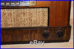 Vintage 1942 Philco Model 42 345 Wood Case Tube Radio Working