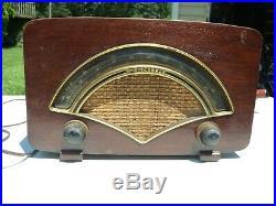 Vintage 1946 Zenith Model 8H034 AM/FM Radio Mid Century Modern All Original