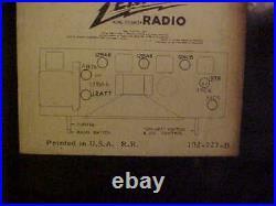 Vintage 1950 Zenith Bakelite Tube AM/FM Radio H725 45 Watts Working sounds good