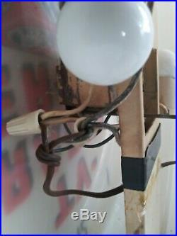 Vintage 1950s GE TV Tubes Radio Service Lighted Clock 16 Dualite Works