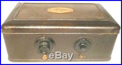 Vintage ATWATER KENT #40 BREADBOX RADIO with POWER SUPPLY & 5 TUBES & GOOD TUNING
