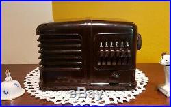 Vintage Airline Bakelite AM Tube Radio 62-501 (1938) COMPLETELY RESTORED