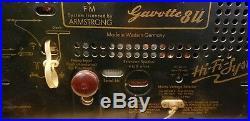 Vintage Antique 1957 Telefunken Gavotte 8 U Hifi Tube Radio Germany Works! Rare