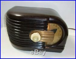 Vintage Art Deco 1930's Zenith 6D-311 Tube Radio Works