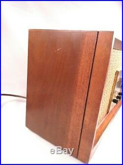 Vintage Arvin Tabletop Desktop Model Tube Radio AM/FM 2 Band cherry Case 32r43