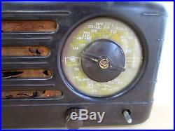 Vintage Awa Astor Bakelite Valve Radio Radiolette Original As Found