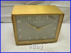Vintage Benrus Art Deco Clock Radio Tube Type Bed Alarm