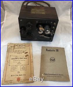 Display Tube Radio Vintage. Vintage Circa 1920 Rca Radiola 3 Antique Tube Radio Display Tubes Manual Air Log. Wiring. 1920s Zenith Tube Radio Schematics At Scoala.co