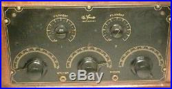 Vintage DeFOREST F5 BATTERY RADIO Untested with 5 GLOBE TUBES nice cabinet