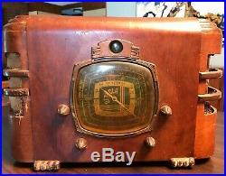 Vintage Detrola 148 E Table Top Radio Art Deco For Restoration
