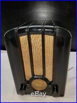 Vintage Emerson Tube Radio Art Deco