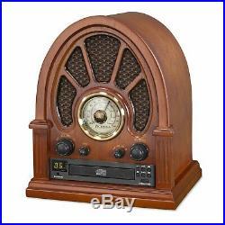 Vintage FM Radio Cathedral Retro Bluetooth Wooden Collectors Gift Retro Brown