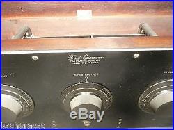 Vintage FREED EISEMANN NR-5 RADIO 5 early tubes BAKELITE FRONT clean inside