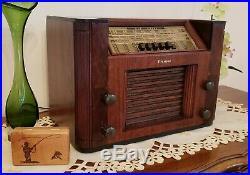 Vintage Firestone AM/SW Tube Radio S7398-8 (1942) COMPLETELY RESTORED