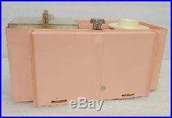 Vintage General Electric C437B PINK Clock Alarm AM Tube Radio Works Clean MCM