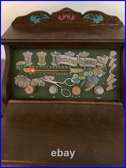 Vintage Guild Tube AM FM Radio Wood Sewing Box