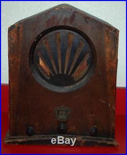 Vintage Jackson Bell Tombstone Tube Sunrise Catherdal Radio Model 62 PARTS SS