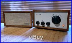 Vintage KLH Model EIGHT 8 tube radio RESTORED MCM recapped, retubed