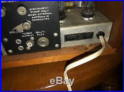Vintage KLH Model Eight 8 FM Tube Radio Great Condition! Tested & Works