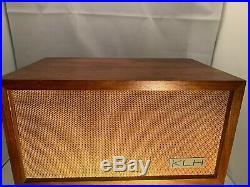 Vintage KLH Model Eight 8 FM Tube Radio & Matching speaker Nice Tested & working