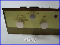 Vintage Lafayette Tube LA-55 mono Amplifier Radio