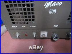 Vintage Maco Amateur 500 Tube Amplifier HAM Radio Antenna