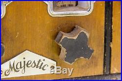 Vintage Majestic Model 59 Radio Wood Case Art Deco Studio Tombstone
