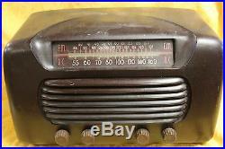 Vintage Mid-Century Retro PHILCO TUBE BAKELIETE RADIO NONE WORKING