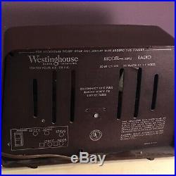 Vintage Mid-Century Westinghouse AM Radio Works