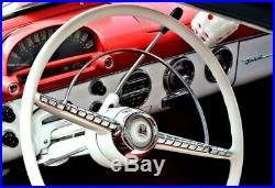 Vintage Original Crosley Dashboard Clock Tube Radio Lux White