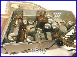 Vintage PHILCO A-801 CHAIRSIDE RADIO Untested CHASSIS with ALL 8 TUBES & KNOBS