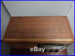 Vintage Packard Bell Model 35H Stationized Wood Case Tube Radio 1938