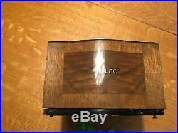 Vintage Philco 1939 Mystery Remote Control Tenite Radio Nice