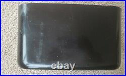 Vintage Philco Transitone Flying Wedge Radio Black Plastic Model 49-503 as-is