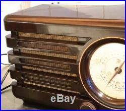 Vintage Philips BX370U Bakelite Tube Radio (Compass)