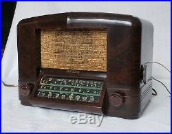 Vintage RCA Bakelite AM/SW Radio Model 5Q55 (1939) RARE & TOTALLY RESTORED