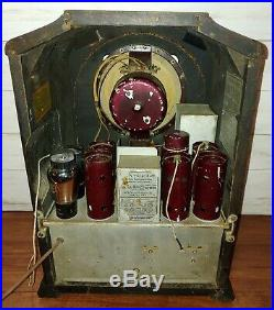 Vintage RCA R-71 Tombstone Gothic Tube Radio Original and Working