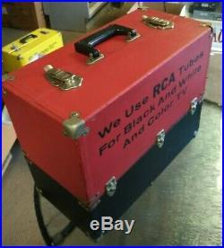 Vintage RCA Radio TV Vacuum Tube Valve Caddy Carrying Case