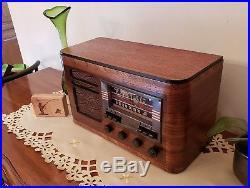 Vintage RCA T60 AM/SW Magic Eye Radio (1939) COMPLETELY RESTORED