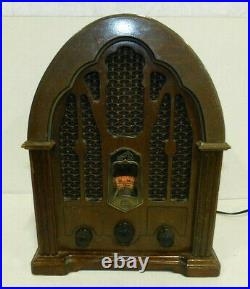 Vintage RCA Tombstone Cathedral Radio Model Antique Reproduction RP-3895 WORKS