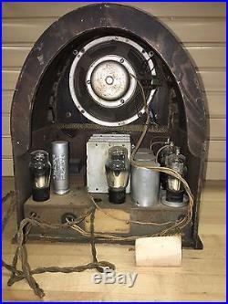 Vintage Radeon Tube RadioParts & Repair Wood Cathedral