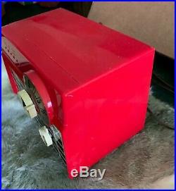 Vintage Red Philco Tube Radio D 591 Works Great Retro