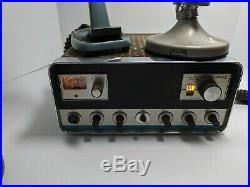 Vintage Regency Tube Range Gain II CB Radio with 2 Microphones For Parts/Repair
