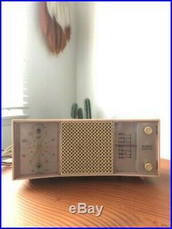 Vintage Retro Pink GE General Electric Tube AM Radio Clock