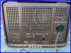 Vintage SABA Type Meersburg W Tube Radio Mid Century Extremely Rare In US